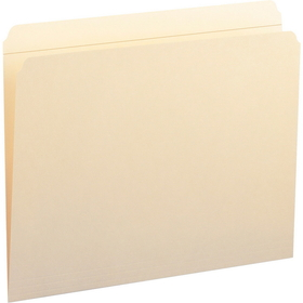 """Smead 10310 Manila File Folders with Reinforced Tab, Letter - 8.50"""" Width x 11"""" Length Sheet Size - 0.75"""" Expansion - 11 pt. - Manila - 100 / Box, Price/BX"""