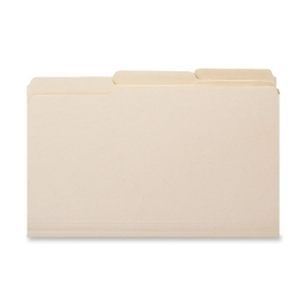 "Smead SMD10339 Smead 10339 Manila 100% Recycled File Folders, Letter - 8.50"" x 11"" Sheet Size - 0.75"" Expansion - 1/3 Tab Cut - Assorted Position Tab Location - 11 pt. - Manila - 100 / Box, Price/BX"