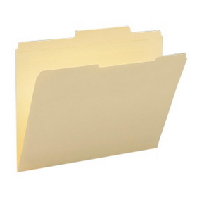 "Smead Straight-Line Top Tab File Folder, Letter - 8.5"" x 11"" - 2/5 Tab Cut on Right - 0.75"" Expansion - 100 / Box - 11pt. - Manila, Price/BX"