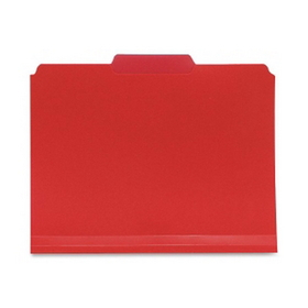 "Smead SMD10501 Smead 10501 Red Poly Colored File Folders, Letter - 8.50"" x 11"" Sheet Size - 0.75"" Expansion - 1/3 Tab Cut - Assorted Position Tab Location - Polypropylene - Red - 24 / Box, Price/BX"