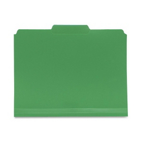 """Smead 10502 Green Poly Colored File Folders, Letter - 8.50"""" Width x 11"""" Length Sheet Size - 0.75"""" Expansion - 1/3 Tab Cut - Assorted Position Tab Location - Polypropylene - Green - 24 / Box, Price/BX"""