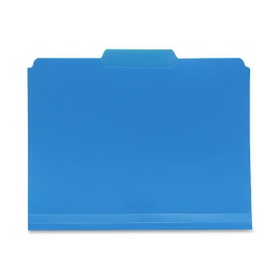 "Smead SMD10503 Smead 10503 Blue Poly Colored File Folders, 11.63"" x 9.50"" Sheet Size - 1/3 Tab Cut - Assorted Position Tab Location - Polypropylene - Blue - 24 / Box, Price/BX"