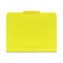 Smead 10504 Yellow Poly Colored File Folders, Letter - 8.50