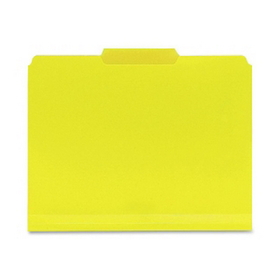"Smead SMD10504 Smead 10504 Yellow Poly Colored File Folders, Letter - 8.50"" x 11"" Sheet Size - 0.75"" Expansion - 1/3 Tab Cut - Assorted Position Tab Location - Polypropylene - Yellow - 24 / Box, Price/BX"