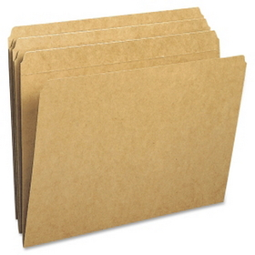 "Smead Kraft File Folder, Letter - 8.5"" x 11"" - Straight Tab Cut - 0.75"" Expansion - 100 / Box - 11pt. - Kraft, Price/BX"