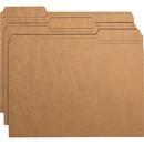 Smead 10734 Kraft File Folders with Reinforced Tab, Letter - 8.50