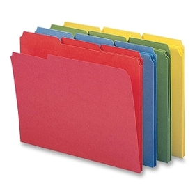Smead 11641 Assortment Colored File Folders with Reinforced Tab, Price/PK