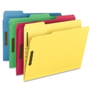 Smead 11975 Assortment Colored Fastener File Folders with Reinforced Tabs, Letter - 8.50