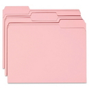 Smead 12643 Pink Colored File Folders, Letter - 8.50