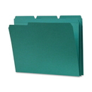 Smead 13134 Teal Colored File Folders with Reinforced Tab, Letter - 8.50