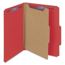 Smead 13731 Bright Red Colored Pressboard Classification Folders with SafeSHIELD Fasteners, Letter - 8.50