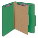 Smead 13733 Green Colored Pressboard Classification Folders with SafeSHIELD Fasteners, Letter - 8.50