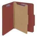 Smead 13775 Red Pressboard Classification Folder with SafeSHIELD Fasteners, Letter - 8.50