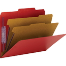 Smead 14031 Bright Red Colored Pressboard Classification Folders with SafeSHIELD Fasteners, Letter - 8.50