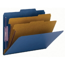 Smead 14032 Dark Blue Colored Pressboard Classification Folders with SafeSHIELD Fasteners, Letter - 8.50