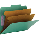 Smead 14033 Green Colored Pressboard Classification Folders with SafeSHIELD Fasteners, Letter - 8.50