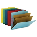 Smead 14034 Yellow Colored Pressboard Classification Folders with SafeSHIELD Fasteners, Letter - 8.50