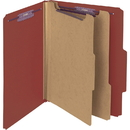 Smead 14075 Red Pressboard Classification Folder with SafeSHIELD Fasteners, Letter - 8.50