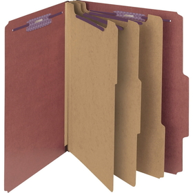 "Smead SMD14092 Smead 14092 Red Pressboard Classification Folder with SafeSHIELD Fasteners, Letter - 8.50"" x 11"" Sheet Size, Price/BX"