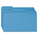 Smead 17043 Blue Colored File Folders, Legal - 8.50