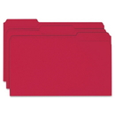 Smead 17743 Red Colored File Folders, Legal - 8.50
