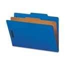 Smead 18732 Dark Blue Colored Pressboard Classification Folders with SafeSHIELD Fasteners, Legal - 8.50