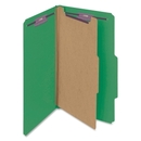 Smead 18733 Green Colored Pressboard Classification Folders with SafeSHIELD Fasteners, Legal - 8.50