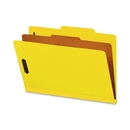 Smead 18734 Yellow Colored Pressboard Classification Folders with SafeSHIELD Fasteners, Legal - 8.50