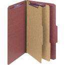 Smead 19075 Red Pressboard Classification Folder with SafeSHIELD Fasteners, Legal - 8.50