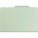 Smead 19076 Gray/Green Pressboard Classification File Folder with SafeSHIELD Fasteners, Legal - 8.50