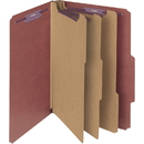 Smead 19092 Red Pressboard Classification Folder with SafeSHIELD Fasteners, Tyvek - Red - 10 / Box