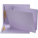 Smead 25540 Lavender End Tab Colored Fastener File Folders with Reinforced Tab, Letter - 8.50