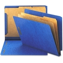 Smead 26784 Dark Blue End Tab Pressboard Classification Folders with SafeSHIELD Fasteners, Letter - 8.50