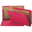Smead 29783 Bright Red End Tab Pressboard Classification Folders with SafeSHIELD Fasteners, Legal - 8.50