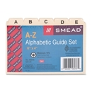 Smead 56076 Manila Heavyweight Card Guides with A-Z Tabs, 25 x Tab - Blank - 5 Tab(s)/Set - 6