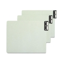 Smead 61676 Gray/Green 100% Recycled Extra Wide End Tab Pressboard Guides with Vertical Metal Tab, Blank - 12.25