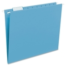 Smead 64068 Sky Blue Colored Hanging Folders with Tabs, Letter - 8.50