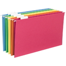 Smead 64159 Assortment Colored Hanging Folders with Tabs, Legal - 8.50