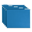 Smead 64160 Blue Colored Hanging Folders with Tabs, Legal - 8.50
