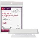 Smead 64615 Clear Poly Tabs, Blank - 3 Tab(s)/Set - 3.50