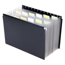 Smead 65125 Black Poly Hanging Expanding File, Letter - 8.50