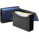 Smead 70863 Blue/Black Poly Frequency Expanding File, Letter - 8.50
