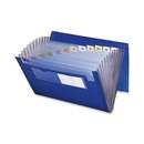 Smead 70876 Blue Poly Ultracolor Expanding Files, 9.25
