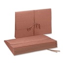 Smead 71076 Redrope Expanding Wallets with Cloth Tape Tie, 10