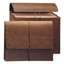 Smead 72473 Leather-Like Partition Wallets with Elastic Cord, 9.50