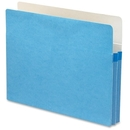Smead 73215 Blue Colored File Pockets, Letter - 8.50