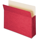 Smead 73231 Red Colored File Pockets, Letter - 8.50