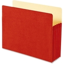 Smead 73241 Red Colored File Pockets, Letter - 8.50