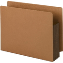 Smead 73681 Dark Brown Extra Wide End Tab File Pockets with Reinforced Tab and Colored Gusset