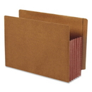 Smead 73691 Dark Brown Extra Wide End Tab File Pockets with Reinforced Tab and Colored Gusset, Letter - 8.50